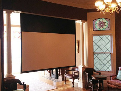 hidden projector screen